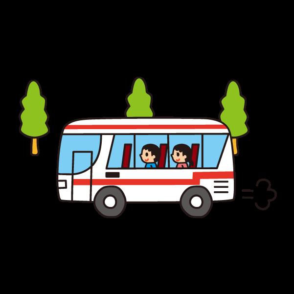 バスがうごいているときはたちあがらないようにしよう!