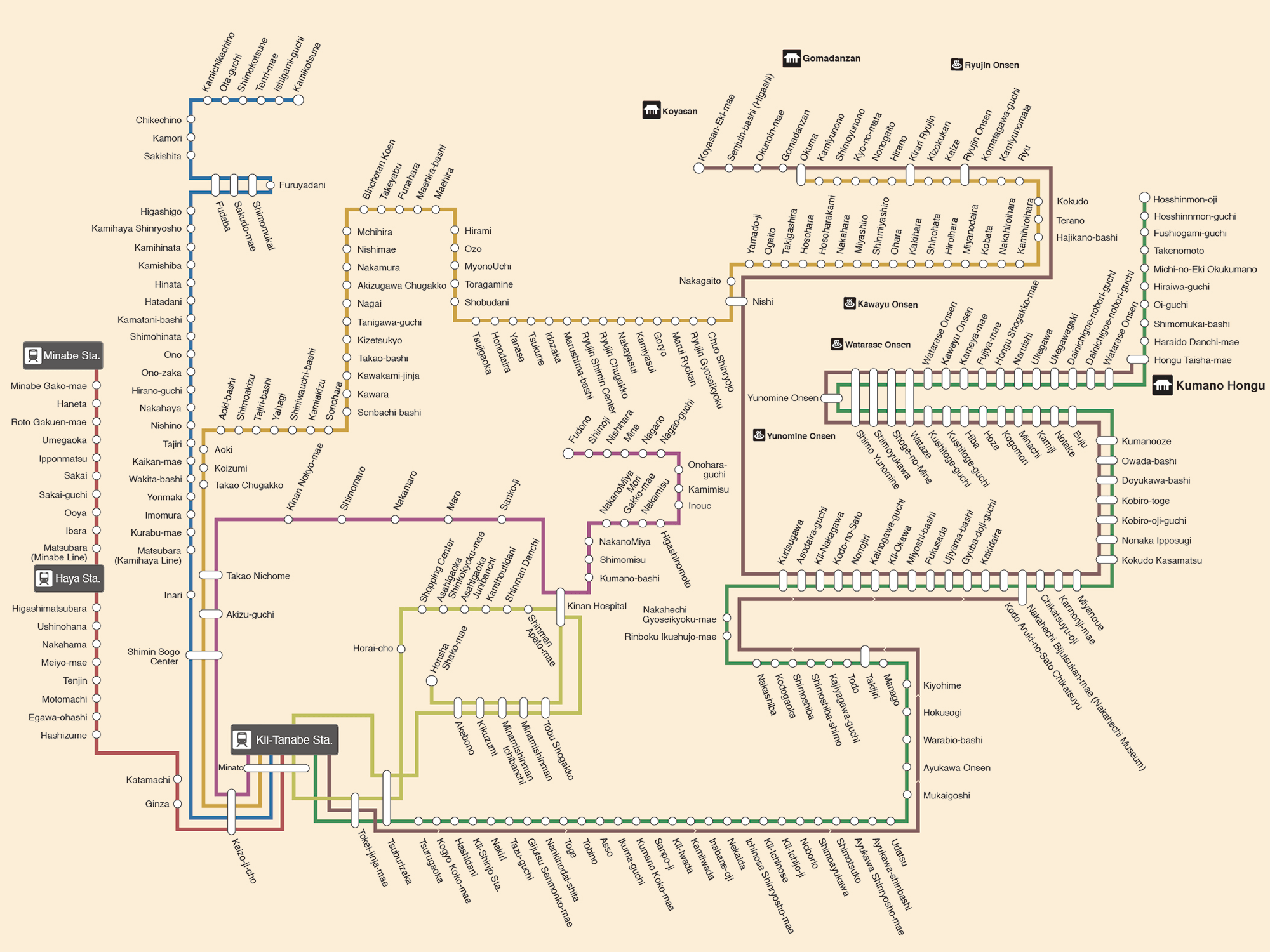 Complete Ryujin Bus Route Map